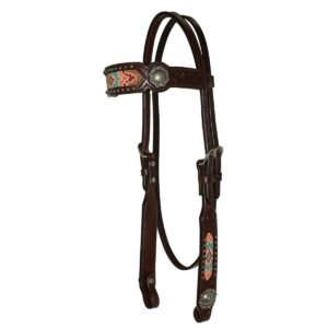 Beaded Berry Browband Headstall HSRX0116T