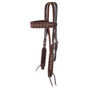 Chocolate Roughout Browband Headstall HSRX01182
