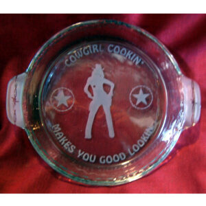 Etched Pie Barrel Cowgirl Cooking GL4CGCGC