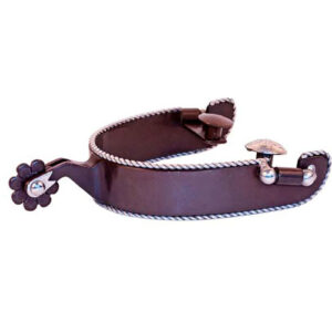 Antique Brown Rope Edge Spurs GS9967