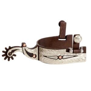 Antique Brown Show Spur Men's, German Silver Trim GS260701