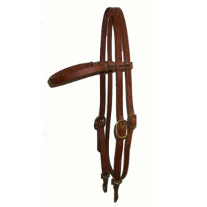 Harness Leather Browband Headstall Quick Change HSMC90