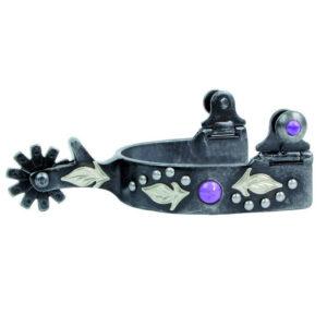 Professional's Choice Spur Kids Ladies Dot 10 Rowel Purple Stones GSPCSP131PUR