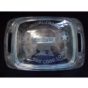 Pyrex Easy Grab 2 Quart Etched Casserole With Glass Cover CASS4