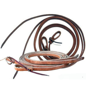 Leather Split Reins Weighted Ends RAMC50